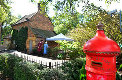Captain Cooks Cottage. MELBOURNE, AUS - APR 14 2014:Captain Cooks Cottage.It's a popular tourist attraction located in the Fitzroy Gardens, Melbourne, Australia Royalty Free Stock Image