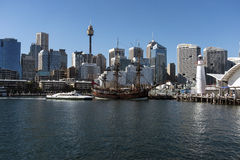 Captain Cooks Ship Endeavour Stock Image