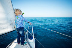 Captain for a day Royalty Free Stock Photos