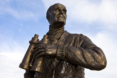 Captain Frederic John Walker Statue at the Pier Head in Liverpoo Royalty Free Stock Photography