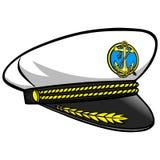Captain Hat. Cartoon illustration of a Captain Hat Royalty Free Stock Photo