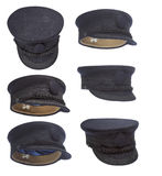 Captain hat collection Royalty Free Stock Images