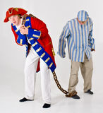 Captain and his prisoner Royalty Free Stock Image
