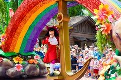 Captain Hook from the Festival of Fantasy parade Royalty Free Stock Photo