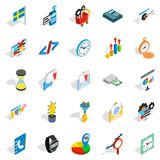 Captain of industry icons set, isometric style Royalty Free Stock Photo