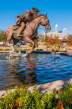 Captain jack herald of liberty monument pool Royalty Free Stock Photo