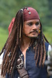 Captain Jack Sparrow From Pirates Of The Caribbean Stock Photo