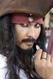 Captain Jack Sparrow, pirati dei Caraibi Fotografia Stock Libera da Diritti