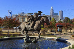 Captain Jack Statue in Charlotte Stock Photo