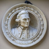 Captain James Cook Medallion Bust in Greenwich Stock Images