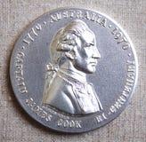 Silbermedaille Kapitäns James Cook Stockfotografie