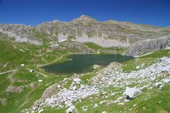 Captain lake. Montenegro Captain lake mountains  tourist wild beauty Stock Image