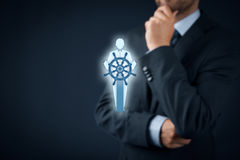 Captain is leader Stock Images