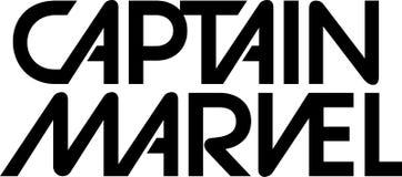 Captain Marvel logo editorial stock illustration