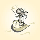 Captain mouse Royalty Free Stock Photo