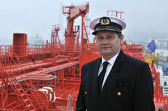 Captain of the ocean ship Royalty Free Stock Photo