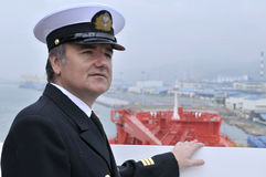 Captain of the ocean ship Stock Photos