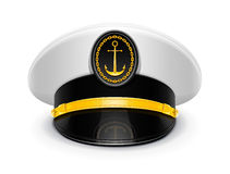 Captain peaked cap with cockade Royalty Free Stock Photo