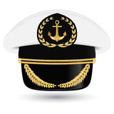 Captain peaked cap with cockade  illustration  Stock Photo