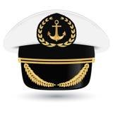 Captain peaked cap with cockade  illustration  Stock Photo