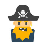 Captain pirate character vector illustration. Stock Photo