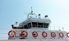 Captain's bridge on ferry Stock Photography