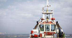 Captain`s bridge on the ship. royalty free stock photography