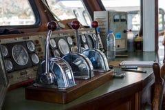 Captain`s cabin of pleasure ship. Royalty Free Stock Image