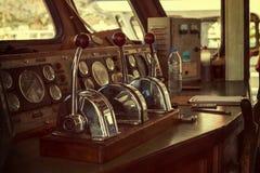 Captain`s cabin of pleasure ship. Stock Photo