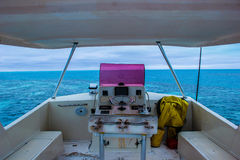 Captains Deck. The beautiful view from the captains deck on a diving boat in Belize Royalty Free Stock Photography