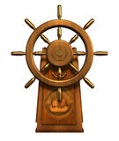 Captain's Wheel - includes clipping path Stock Photos