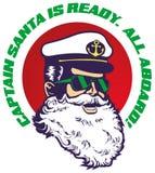 Captain-Santa Royalty Free Stock Photos