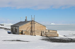 Captain Scotts Hut, Antarctica. Terra Nova Hut built by the British Antarctic Expedition, Ross Island, Antarctica in 1911. The expedition was led by Captain Royalty Free Stock Images