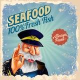 Captain seafood Stock Photo
