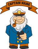 Captain Seas Template Royalty Free Stock Photography