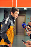 Captain of Shakhtar Dario Srna give an interview Stock Photos
