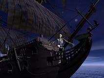 Captain skeleton - 3D render Stock Photos