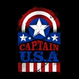 The Captain U.S.A vector illustration