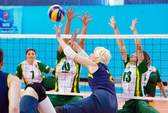 Captain of Ukraine team Angela Churkina (2)  in ac Royalty Free Stock Images