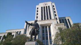Captain Vancouver Statue, ville hôtel, le tir 4K, UHD de chariot de Vancouver clips vidéos