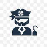 Captain vector icon isolated on transparent background, Captain vector illustration