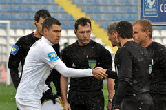 Captain of Volyn team great referees Stock Image