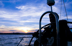 Captain at the Wheel Royalty Free Stock Image