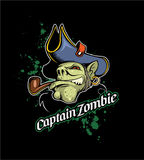 Captain Zombie with smoking pipe Stock Images