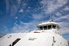 Captains bridge. On a ferry carrying passengers and cars Stock Images