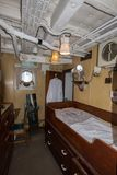 HMS Cavalier Captains Cabin royalty free stock photo