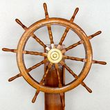 The Captains Wheel. Sea going vessels navigation wheel Royalty Free Stock Photos