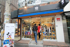 10 capten shoppar i Seoul, Sydkorea Arkivfoto