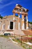 罗马寺庙,布雷西亚,意大利。 免版税库存照片