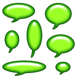 Caption Bubbles Clip Art Royalty Free Stock Photos